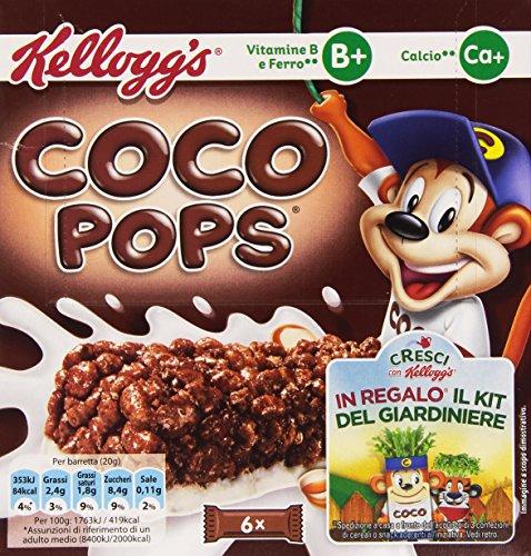 Kellogg'S – Barretta Coco Pops, vitamina B, hierro y calcio – 120 g