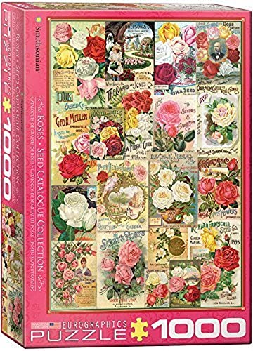 EuroGraphics Rosas Smithsonian Seed Catalogues (1000 Piece) Puzzle by EuroGraphics