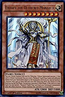 Yu-Gi-Oh! - Ehther the Heavenly Monarch (SR01-EN000) - Structure Deck: Emperor of Darkness - Edition - Ultra Rare
