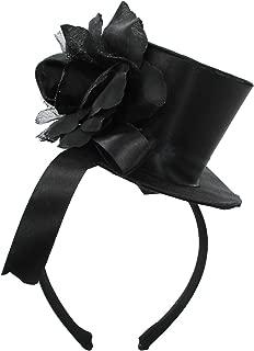 Black Mini Top Hat Rose Lolita Goth Widow Adult Women's Costume Accessory