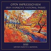 現代印象派壁掛けカレンダー 2020 エリン・ハンソン国立公園絵画