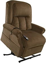 Mega Motion Easy Comfort Superior 3 Position Heavy Duty Big Lift Chair 500 lb Capacity Chaise Lounge Recliner - Walnut Brown Fabric