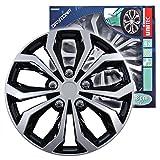 Cartrend 75568 Radzierblenden 4er Set Daytona Schwarz/Silber 15 Zoll
