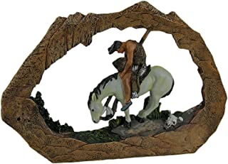 Zeckos End of The Trail American Indian On Horseback Stone Look Statue