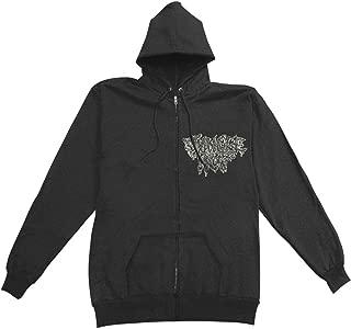 Men's Skin The Living Color Zippered Hooded Sweatshirt Black