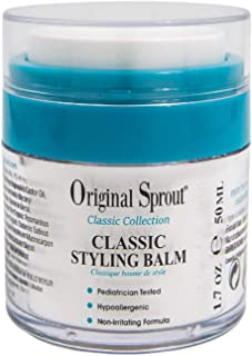 Original Sprout Natural Styling Balm, Non-Toxic Firm Holding Hair Styling Balm for Babies and Up, 2 Ounce, Pack of 1