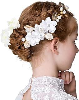 {クローバー}子供髪飾り キッズ ガール 発表会 結婚式 入学式 卒業式 金葉の花 カチューシャ