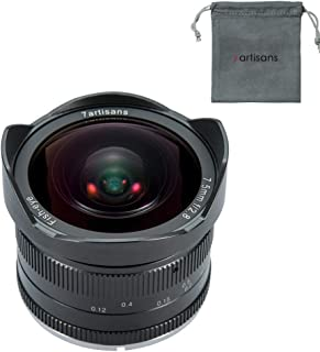 7artisans 7.5mm F2.8 APS-C Wide-Angle Fisheye Fixed Lens (Aspherical) for Compact Mirrorless Cameras Fuji FX Mount X-A1 X-A2 X-A2 X-A10 X-at X-T10 X-T20 X-Pro1 X-Pro2 X-E1-Black
