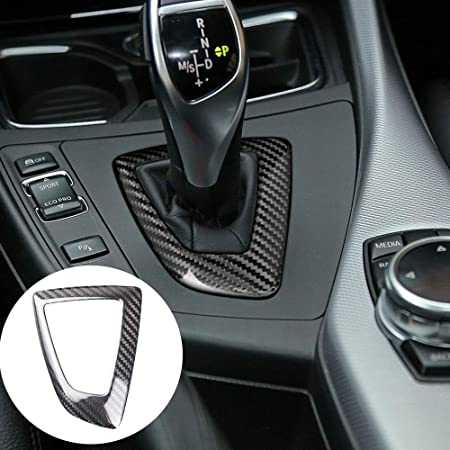 Shiwaki Carbon Fiber Car Gear Shift Box Panel Trim For BMW F20 F21 2012-2015