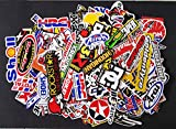 120 Pcs Racing Sticker Pack Vintage Decal...