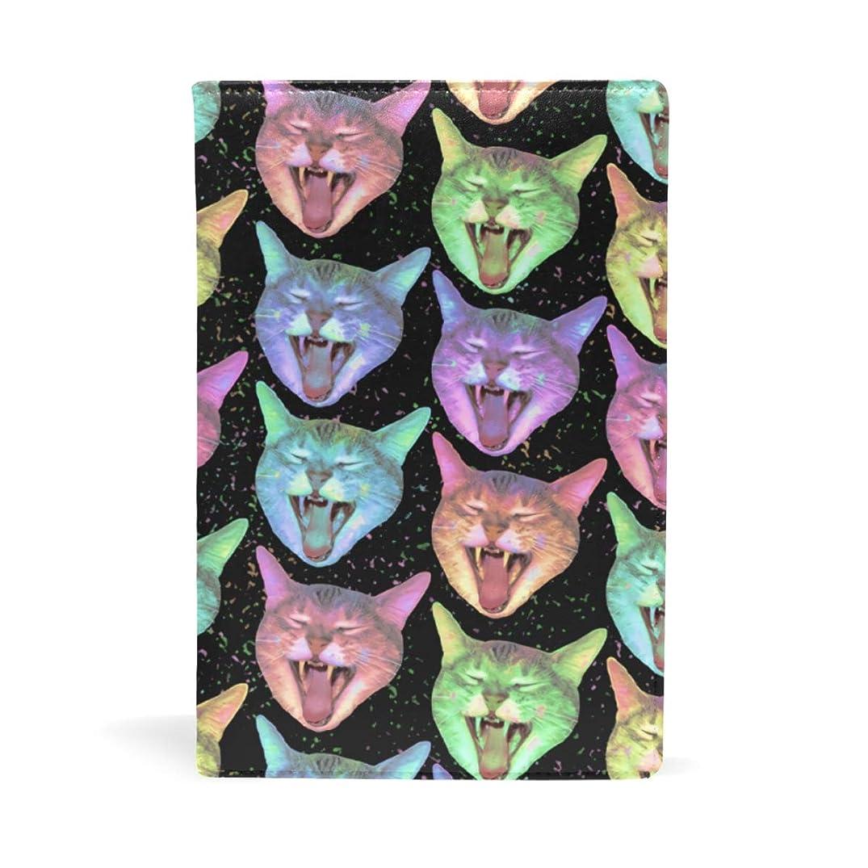 パラメータサイトれんが叫んでいる猫 カラフル ブックカバー 文庫 a5 皮革 おしゃれ 文庫本カバー 資料 収納入れ オフィス用品 読書 雑貨 プレゼント耐久性に優れ