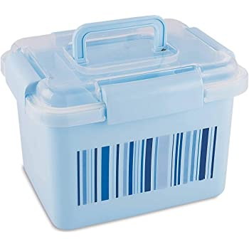 aaKaR - Big Storage Medical First Aid Box, Multi Purpose Box, Multi Utility Storage with Handle (Color Blue) Medicine Dispenser