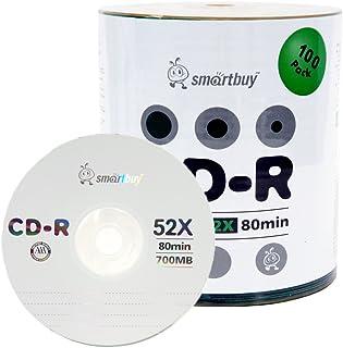 Smartbuy 100-disc 700mb/80min 52x CD-R Logo Top Blank Data Recordable Media Disc