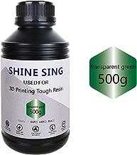SHINE SING 3D Rapid Resin LCD UV-Curing Resin 405nm Standard Photopolymer Resin for LCD 3D Printing 500Gram Transparent Green