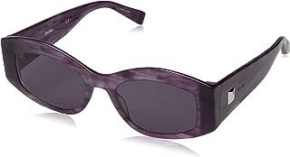 Max Mara Women's Mm Iris Rectangular Sunglasses, Violet, 52 mm