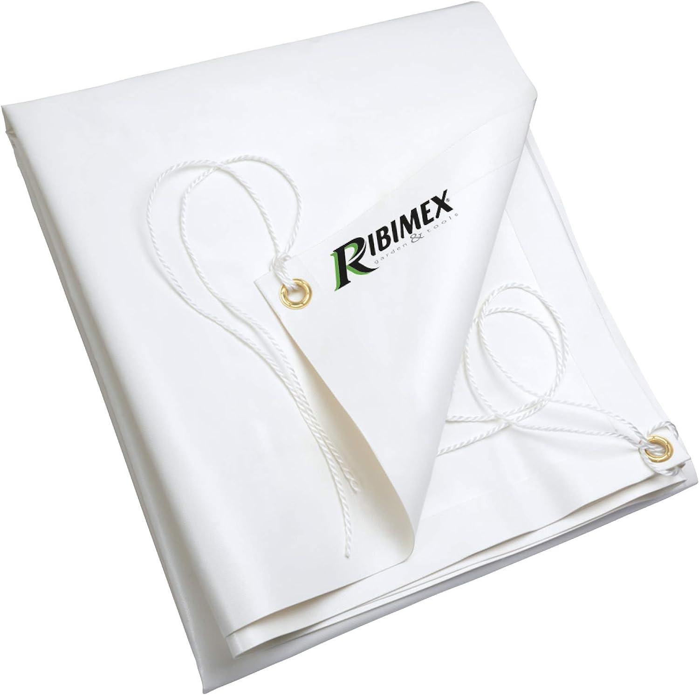 TELO TELONE BIANCO 650GR COPERTURA BARCA LEGNAME PVC RINFORZATO PESANTE OCCHIELL