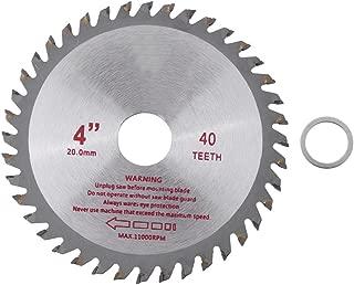 4'' 40 Teeth Silver Circular Saw Blade Cemented Carbide Wood Cutting Wheel Disk Rotary Tool Bore Diameter 20mm