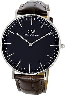 Daniel Wellington Men'S Black Dail Leather Band Watch Dw00100147, Analog