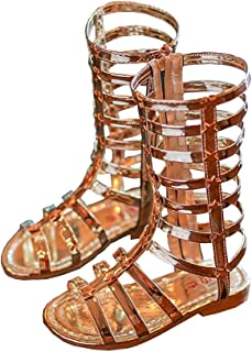 0479478b679805 BININBOX Girls High-top Gladiator Sandals Summer Rivet Girls Sandals Kids