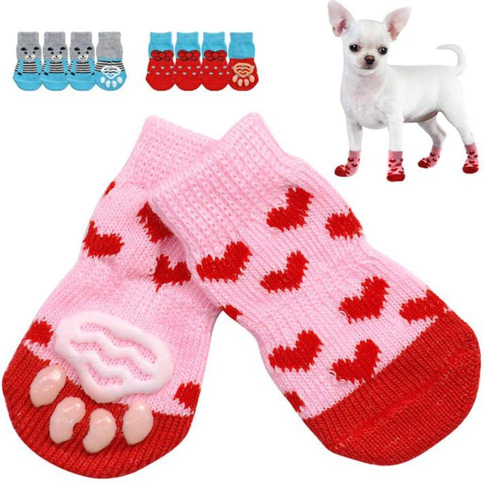4Pcs Xmas Pet Dog Weekly update Puppy Cotton 40% OFF Cheap Sale Shoes Socks Anti-Slip Winter Warm