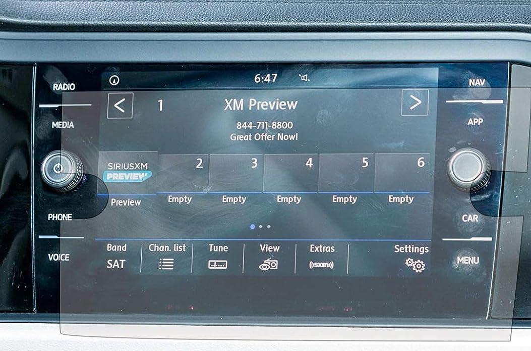 パークディスパッチアプローチPcProfessional スクリーンプロテクター (2枚セット) 2018 2019 フォルクスワーゲン ティグアン アルタ用 8インチ ナビゲーション情報 タッチスクリーンディスプレイ 高解像度 傷防止フィルター UV