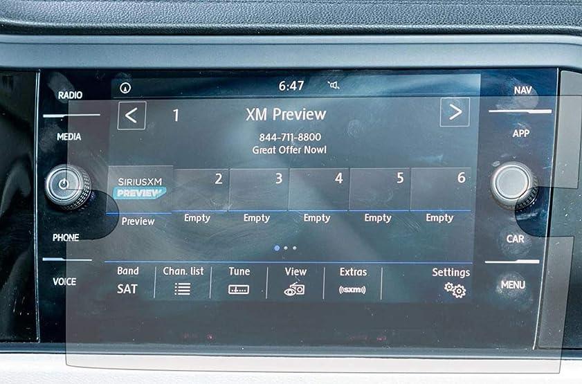 直接酸度立ち寄るPcProfessional スクリーンプロテクター (2枚セット) 2018 2019 フォルクスワーゲン ジェッタ 8インチ ナビゲーション情報 タッチスクリーンディスプレイ グレア防止 傷防止フィルター UV