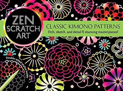 Zen Scratch Art: Classic Kimono Patterns
