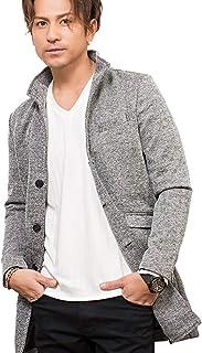(キャバリア) CavariA メンズ コート イタリアンカラー チェスター ロング ヘリンボーン きれいめ 紳士