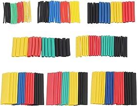 ZYAMY 328pcs 2:1 Heat Shrink Tube Wrap Wire Cable Insulated Sleeving Tubing Set Polyolefin Shrinking Assortment Kit 8 Sizes 5 Colors