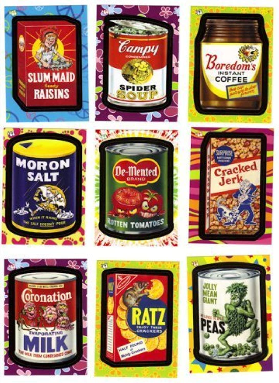 2008 Topps Wacky Packages Flashbacks Stickers Complete Set of 72 Parody Stickers    by Topps