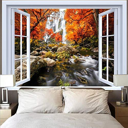 Tapiz de montaña tapiz paisaje lago puesta de sol gran ola tapiz paño de pared decoración del hogar fondo tapiz de tela A20 180x230cm