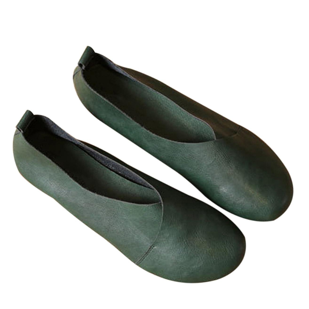 労働誰か人柄レディースシューズ 2018女性の靴ステッチMoccasins牛革柔軟な春のカジュアルシューズ女性のフラット女性の靴