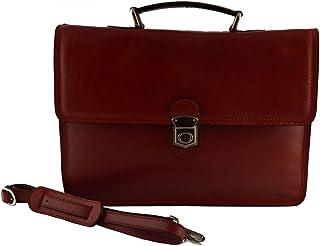 Cartella Professionale In Vera Pelle 1 Scomparto Colore Rosso - Pelletteria Toscana Made In Italy - Business