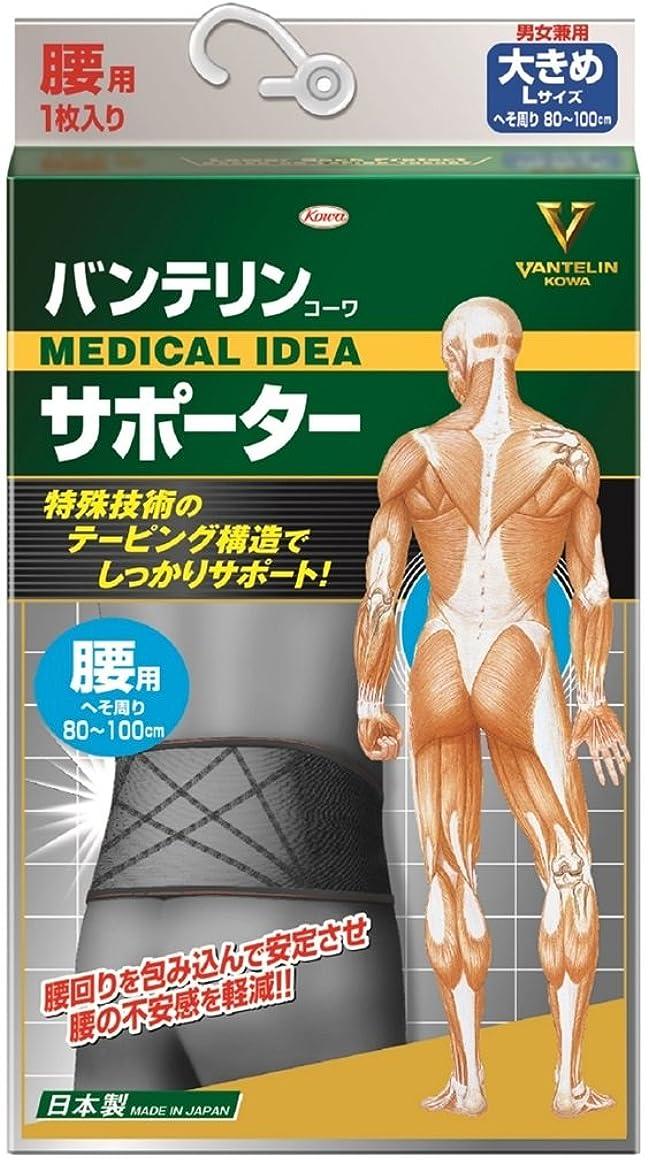 回転させるアルコール有効なバンテリンサポーター 腰用 ブラック 大きめサイズ 胴囲80~100cm