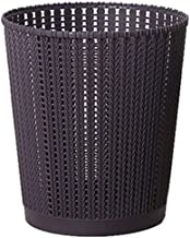 JJZXD Decorative Oval Trash Can Wastebasket, Garbage Container Bin for Bathrooms, Powder Rooms, Kitchens, Home Offices (Co...