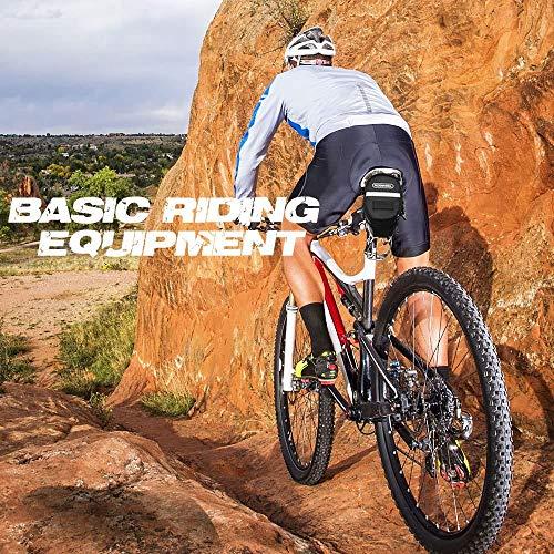 iKALULA Fahrrad Satteltasche, Kompakte Wasserdichte Rahmentasche Fahrradtasche Oberrohrtasche Aero Wedge Pack Mountainbike Bag für Mountainbikes, Fahrräder, und Rennräder – Schwarz - 2
