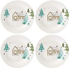 Lenox Balsam Lane 4-Piece Tidbit Plate Set, 2.05 LB, Green