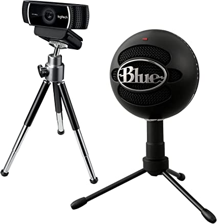 KIT DI START UP - Microfono USB Blue Snowball Black iCE + Logitech C922 Pro Stream Webcam, Streaming Full HD 1080p con Treppiede e Licenza XSplit Gratuita di 3 Mesi - Nero - Trova i prezzi più bassi