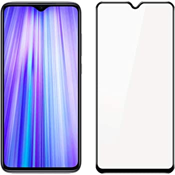 POPIO Edge to Edge Full Screen Coverage Tempered Glass Screen Protector for Redmi Note 8 Pro with Installation Kit (Black)
