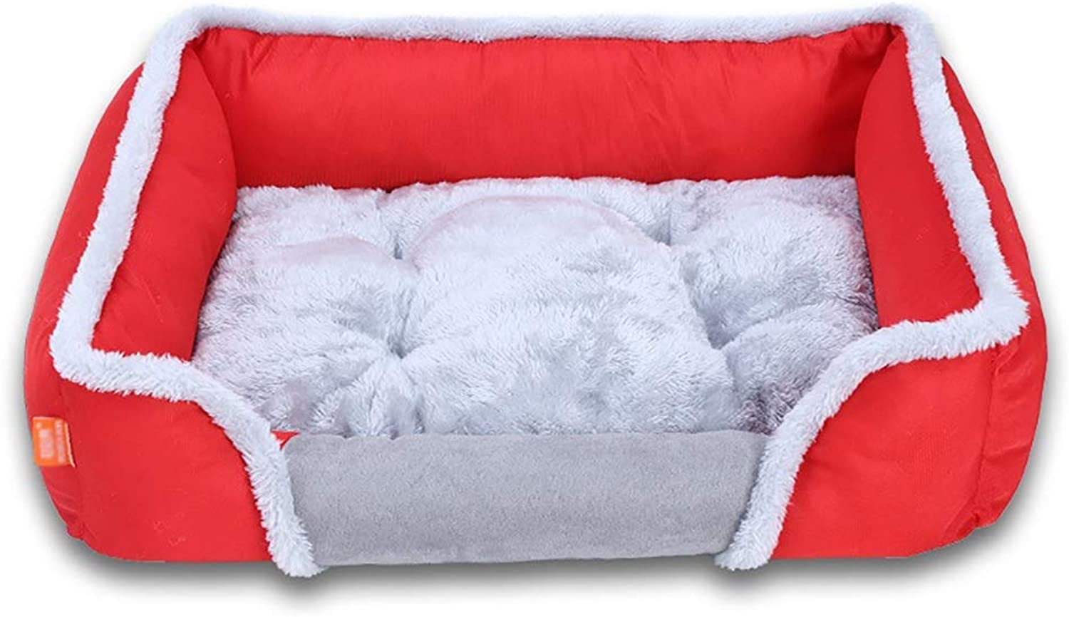 Cat and Dog Pet Nest, Creative Winter Warm Pet Bed, Comfortable and Warm Dog Bed Pet Nest, Red (Size   S)