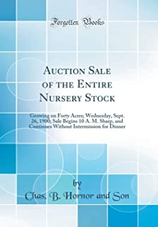 Auction Sale of the Entire Nursery Stock: Growing on Forty Acres; Wednesday, Sept. 26, 1900; Sale Begins 10 A. M. Sharp, a...