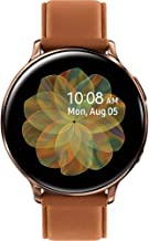 $308 » Samsung Original Galaxy Watch Active2 w/; auto Workout Tracking, and pace Coaching Enhanced Sleep Tracking Analysis Stainless Steel CASE and Leather Band (International Model) (Gold, 44mm) No LTE