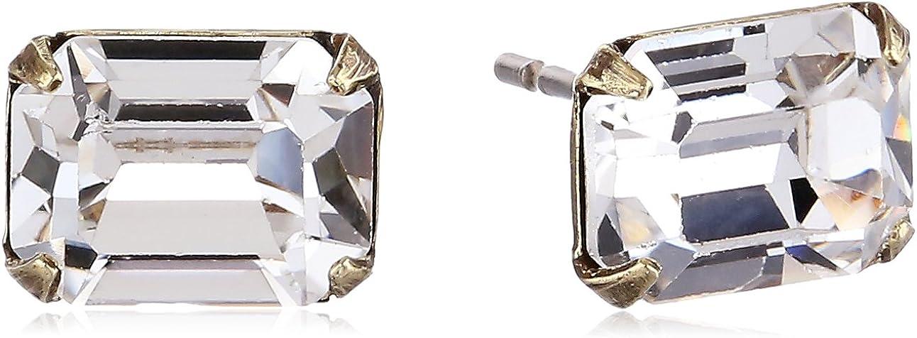 Sorrelli Essentials Mini Emerald Cut Stud Earrings
