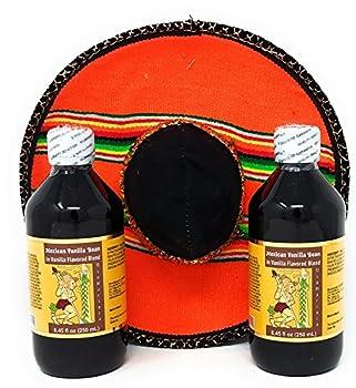 Usumacinta Mexican Vanilla 8.4 Ounce Set with Sombrero  Amber