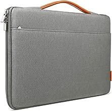 Inateck 15-15.4 Inch Laptop Sleeve Briefcase Bag Compatible 15'' MacBook Pro 2013-2015/MacBook 2016 2017 2018/Surface Book 2 - Dark Gray