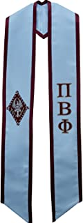 Pi Beta Phi Fraternity Sorority Deluxe Embroidered Graduation Stole