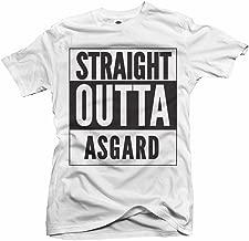AM T-Shirts Straight Outta Asgard White Men's Tee (6.1oz)