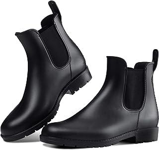 حذاء المطر للسيدات من Dawan مضاد للانزلاق مصنوع من مادة البولي فينيل كلورايد من نوع مرن أحذية مطر أنيقة للنساء مقاومة للماء