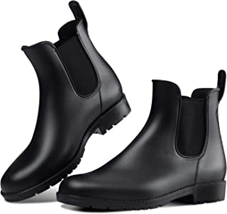Women's Anti-Slip Rain Boots Short Garden Shoes Waterproof Chelsea Booties