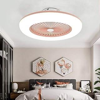 XTD Ventilador De Techo De Luz LED De La Lámpara De Techo - 36W con Control Remoto Tranquilas Control del Ventilador Ventiladores De Techo Invisible Iluminación- para Dormitorio (58 * 20cm) B